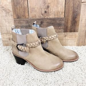Sperry Braided Leather Liberty Ankle Booties